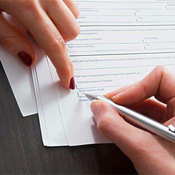 夢見簽署文件