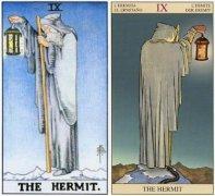 韦特塔罗牌大阿卡纳9号牌隐士(The Hermit)的牌面释义