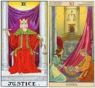 韦特塔罗牌11号正义(Justice)牌面代表什么意思?