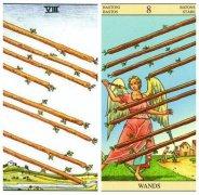 韦特塔罗牌权杖八(Eight Of Wands)的牌面意思解析
