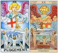 塔罗牌审判(Judgement)对倒吊人(The Hanged Man)的启示与告诫