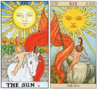 塔羅牌太陽正逆位感情,太陽牌愛情含義解析