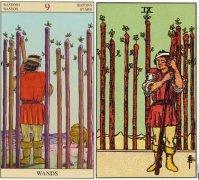塔羅牌正逆位愛情含義,權杖九感情命運解析