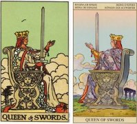 塔罗牌宝剑王后的牌面详细解析