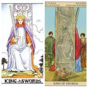 塔罗牌宝剑国王的牌面详细解析